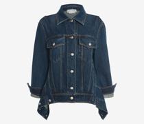 Oversized-Jacke aus Denim mit Kokon-Ärmeln