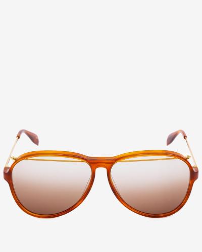Aviator-Sonnenbrille aus Acetat mit Piercing-Detail
