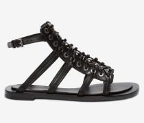 Sandalen mit geflochtener Kette
