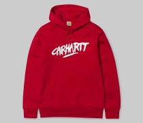 Hooded Painted Script Sweatshirt / Sweatshirt