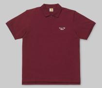 S/S Hand Script Pique Polo / Poloshirt