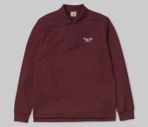 L/S Hand Script Pique Polo / Poloshirt