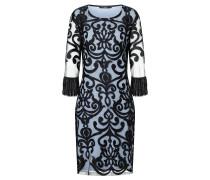Fransenarm Kleid Warana Blau