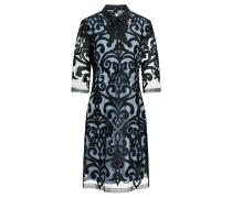 Kragen Kleid Warinie Blau