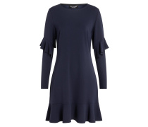 Volant Kleid Waisy Blau