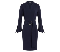 Gürtel Kleid Wahyme Blau