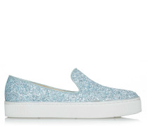Biarritz Slip-ons Blue Maxi Glitter