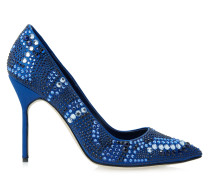 BB Cry 105 High Heels Blue Satin Strass