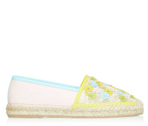 Espadrilles Green Yellow Lace