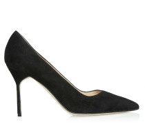BB 90 High Heels Black Suede