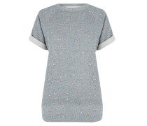 The Rolled Sleeve Sweatshirt Heather Grey Paint Splatter