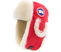 Shearling Pilot Hat Red
