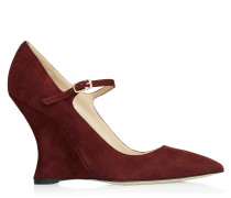 Bride Pumps Bordeaux Suede