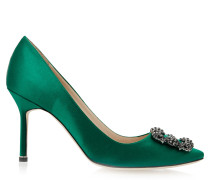 Hangisi 90 Pumps Green Satin BLC