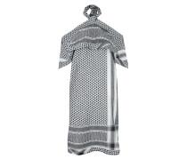 Neckholder Kleid White Black