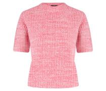 Kurzarm Kaschmir Pullover Pink