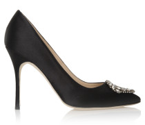 Okkava 105 High Heels Black Satin