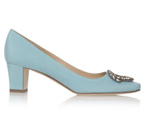 Okkato 50 Pumps Blue Crepe
