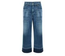 Melanie Wide Leg Crop Jeans Retro