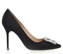 Hangisi 105 High Heels Black Satin