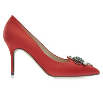 Eufrasia 90 Stilettos Red Satin