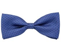 Fliege Seide Royal Blau Polka Dot