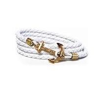 White Coral Beach Anker Armband Weiß