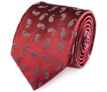 Seiden Krawatte Paisley Rot