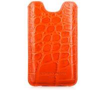 Iphone 5 Croco Leder Etui Orange