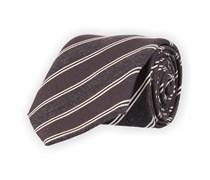 Klassische Krawatte Dunkelgrau Gestreift