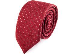 Krawatte Schmal Polka Dot Rot