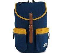 Kay Navy & Sunflower Rucksack Canvas Blau