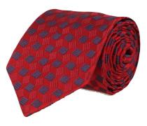 Krawatte Rot Blau Kästchen