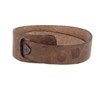 Leder Wickel- Armband Dunkelbraun