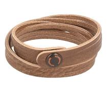 Wickel Armband Braun