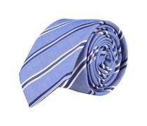 Schmale Krawatte Blau Gestreift