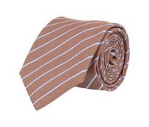 Seiden Krawatte Braun Gestreift