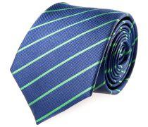 Krawatte Seide Blau Grün Gestreift