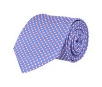Krawatte Seide Blau Gepunktet