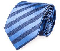 Krawatte Seide Blau Marine Gestreift
