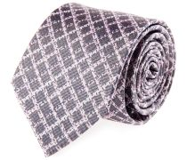 Krawatte Seide Rauten Grau