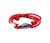 Armband Lanyard Wrap Red Polka White