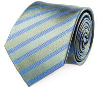 Krawatte Seide Grün Blau Gestreift