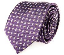 Krawatte Seide Lila Paisley