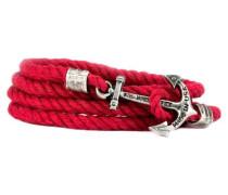 Nantucket Lifeguard Ankerarmband Rot