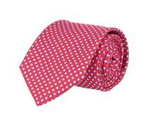 Krawatte Seide Rot Gepunktet