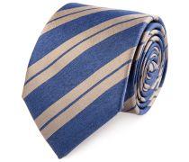 Seiden Krawatte Marine Gold Gestreift
