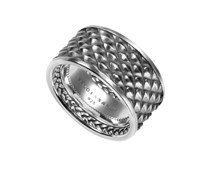 Ring 925 Sterling Silber Oxidized Look
