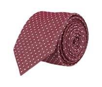 Schmale Krawatte Rot Gepunktet