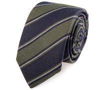 Krawatte Schmal Gestreift Marine Grün